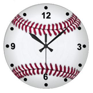 Baseball Fan Wall Clock