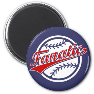 Baseball Fanatic 2 Inch Round Magnet
