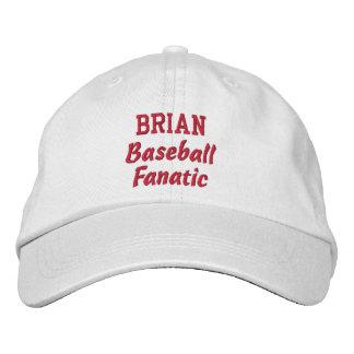 Baseball Fanatic Custom Name Embroidered Baseball Hat