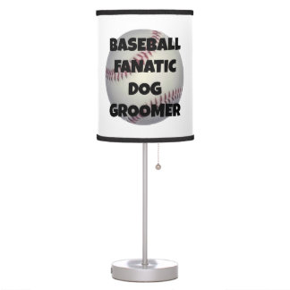 Baseball Fanatic Dog Groomer Lamps