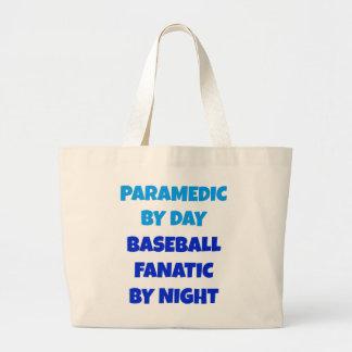 Baseball Fanatic Paramedic Jumbo Tote Bag