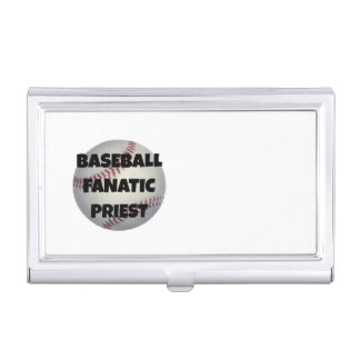 Baseball Fanatic Priest Business Card Holder