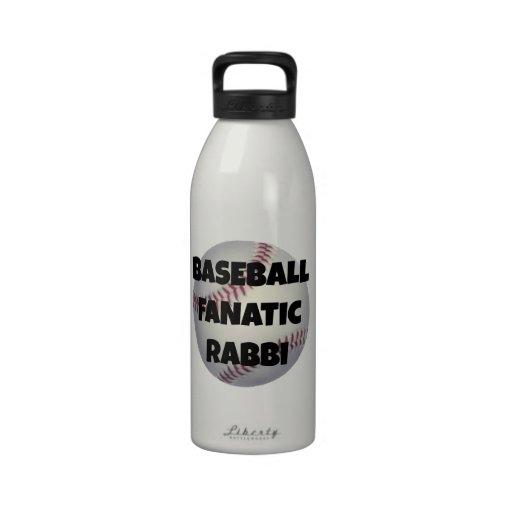 Baseball Fanatic Rabbi Reusable Water Bottle