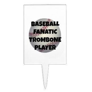 Baseball Fanatic Trombone Player Cake Pick