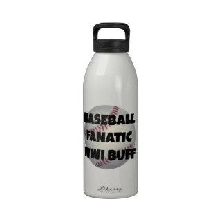 Baseball Fanatic WWI Buff Drinking Bottle