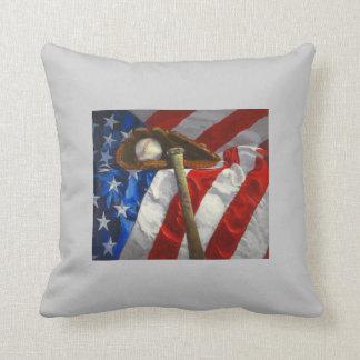 Baseball Fan's American MoJo Pillow