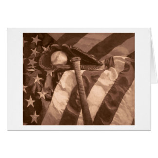 """Baseball Fans' """"America's Game"""" in Sepia Card"""
