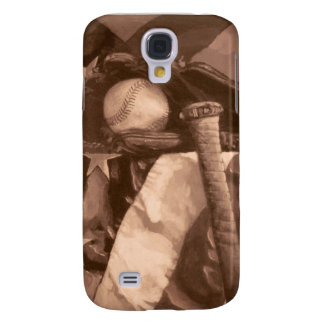 "Baseball Fans' ""America's Game"" in Sepia Galaxy S4 Case"