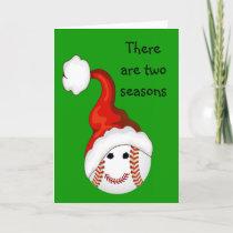 Baseball fans Christmas Holiday Card