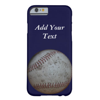 Baseball Fans Personalized Blue Barely There iPhone 6 Case