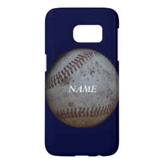 Baseball Fans Personalized Blue Samsung Galaxy S7 Case