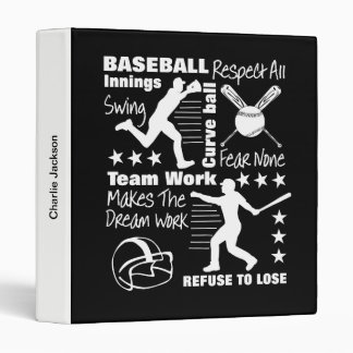 Baseball Fans Quotes And Graphics Sporty Design Binder