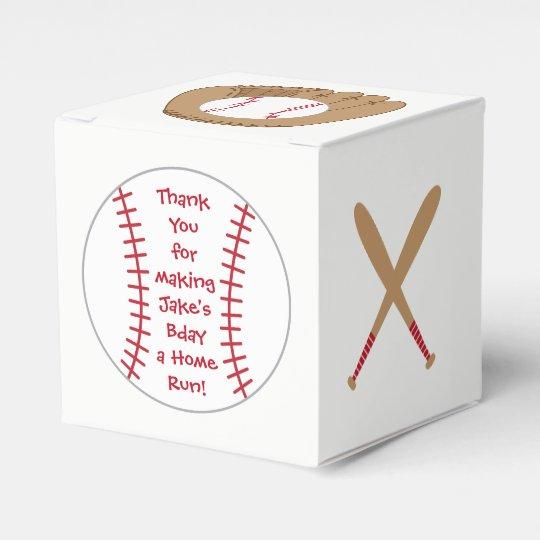 Baseball Favor Box Home Run Birthday Favor Box