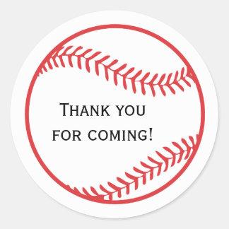 Baseball Favor Sticker