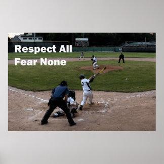 Baseball: Fear None 36 x 24 Poster