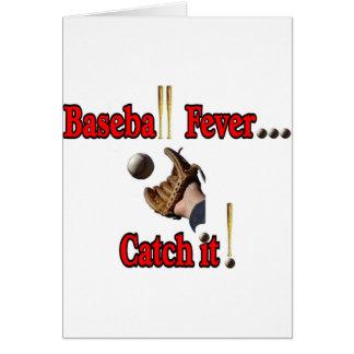 Baseball Fever... Catch it! T-shirt Card