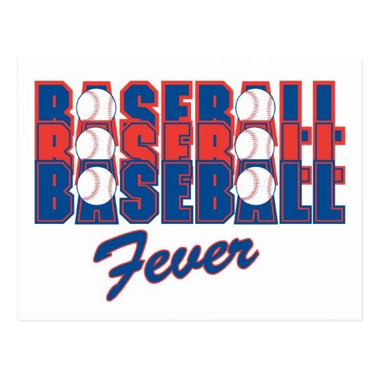 Baseball Fever Postcard