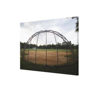 Baseball field 2 canvas print