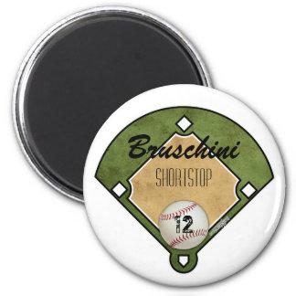 Baseball Field 2 Inch Round Magnet