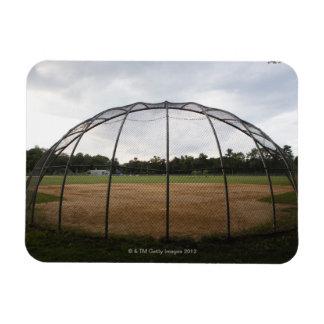 Baseball field 2 rectangular photo magnet