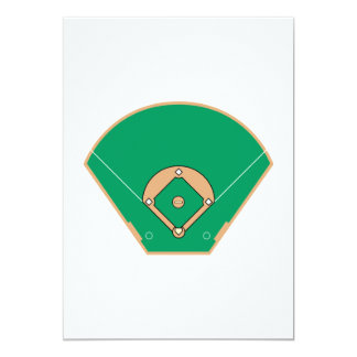 Baseball field card