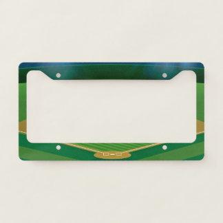Baseball Field Diamond Design License Plate Frame