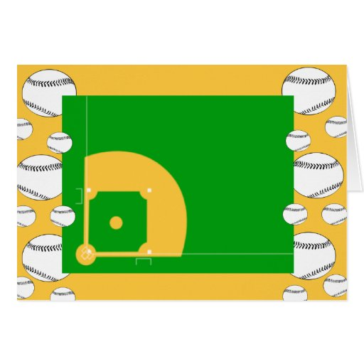 Baseball Field Greeting Card