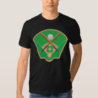 Baseball Field Mens T-Shirt