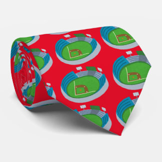 Baseball field neck tie