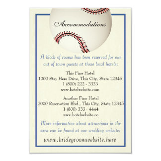 Baseball Field Pass Wedding Information Card