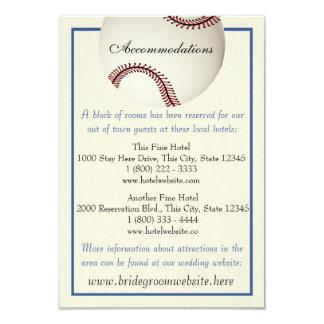 "Baseball Field Pass Wedding Information Card 3.5"" X 5"" Invitation Card"
