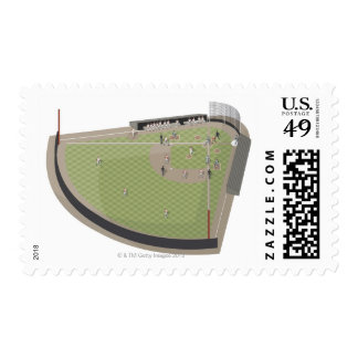 Baseball field postage