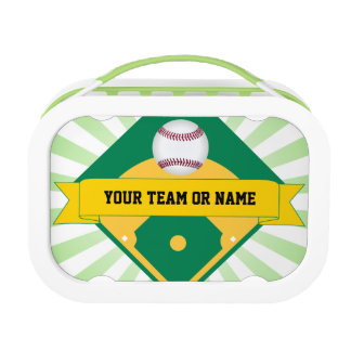 Baseball Field with Custom Team Name Lunch Box