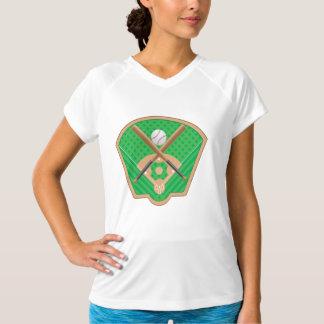 Baseball Field Womens Active Tee
