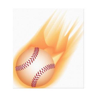 baseball fire canvas print