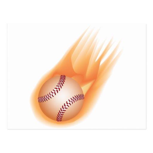 baseball fire postcard