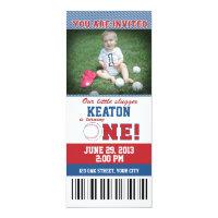 Boy birthday invitations 4900 boy birthday announcements invites baseball first birthday invitation filmwisefo