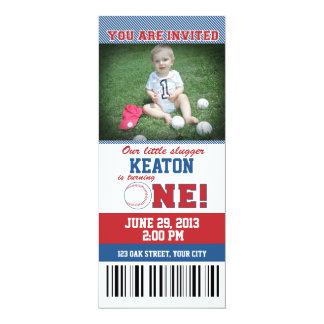 Baseball First Birthday Invitation