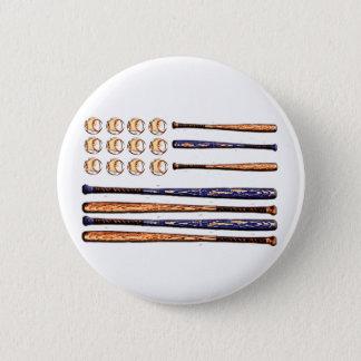 baseball flag pinback button