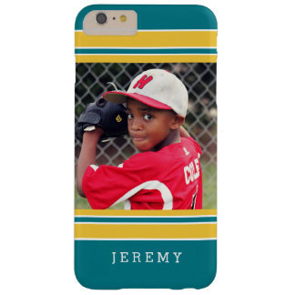 Baseball Football Sports Stripes Photo Portrait Barely There iPhone 6 Plus Case