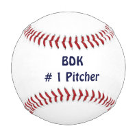 Baseball for kids Custom Template Initials