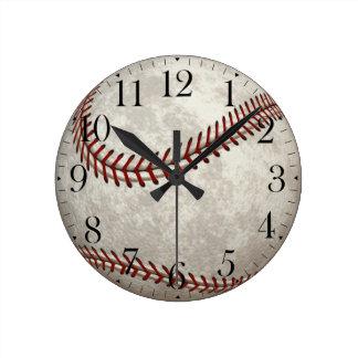 Baseball  Game  American Past-time Sports Round Wallclocks