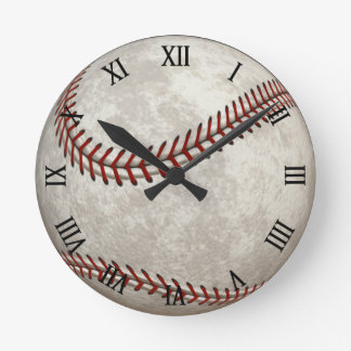 Baseball Game American Past-time Sports Round Wall Clock