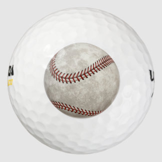 Baseball Game American Past-time Sports Pack Of Golf Balls
