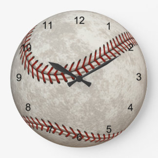 Baseball  Game  American Past-time Sports Large Clock