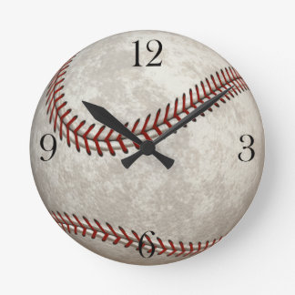 Baseball  Game  American Past-time Sports Round Clock