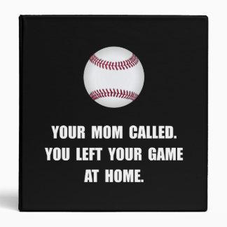 Baseball Game At Home 3 Ring Binder
