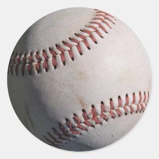 Baseball Game Ball Classic Round Sticker