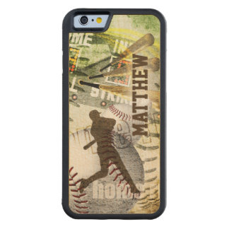 Baseball Game Hitter Bottom of the 9th Carved® Maple iPhone 6 Bumper Case