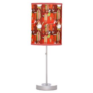 Baseball Game Hotdogs Table Lamp